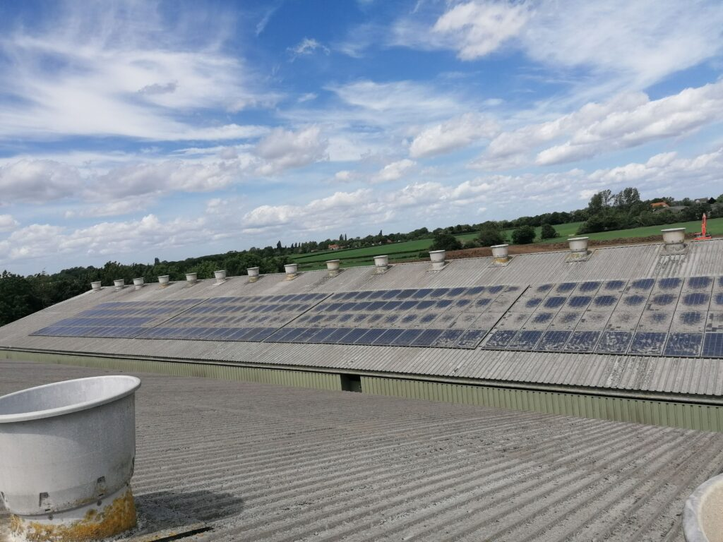 Chicken Farm | Solar Panel Cleaning | Helios OM